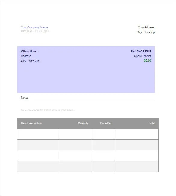 Google Invoice Template - 25+ Free Word, Excel, PDF Format Free