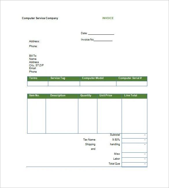 Google Invoice Template - 25+ Free Word, Excel, PDF Format Free - invoice sheets