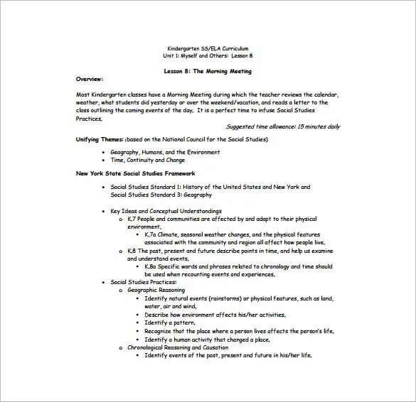 Daily Lesson Plan Template \u2013 12+ Free Sample, Example, Format - social studies lesson plan template