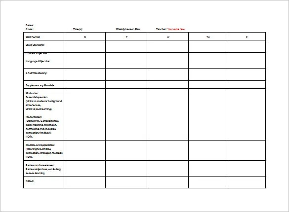 teachers lesson plan template - Onwebioinnovate - lesson plan outline