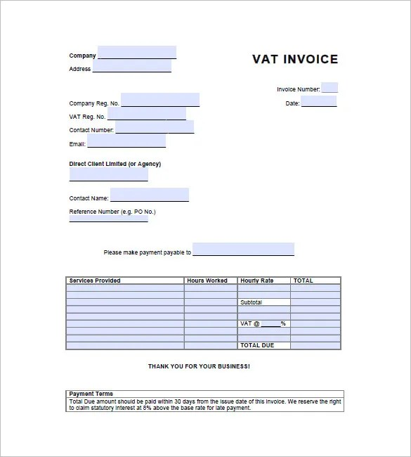 vat invoice templat. example invoice non vat registered – neverage, Simple invoice