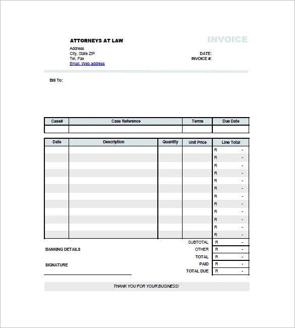 Legal Invoice Templates \u2013 12+ Free Word, Excel, PDF Format Download - legal invoice template