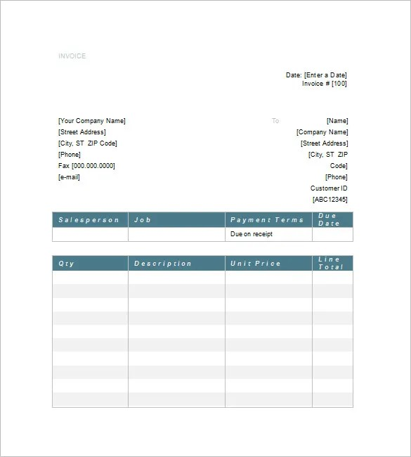 Legal Invoice Template \u2013 8+ Free Sample, Example, Format Download