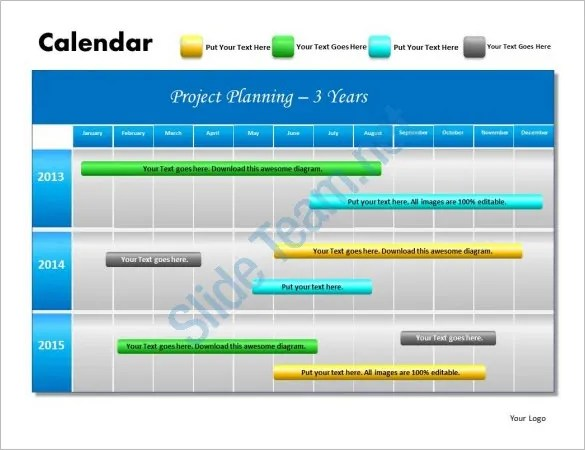 Powerpoint Project Schedule Template Free Project Plan Powerpoint - project plan ppt template