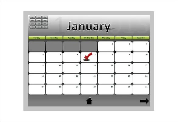 PowerPoint Schedule Template \u2013 8+ Free Word, Excel, PPT Format - powerpoint calendar template
