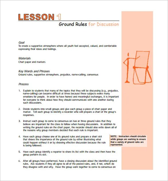 Middle School Lesson Plan Template \u2013 7+ Free Word, Excel, PDF Format
