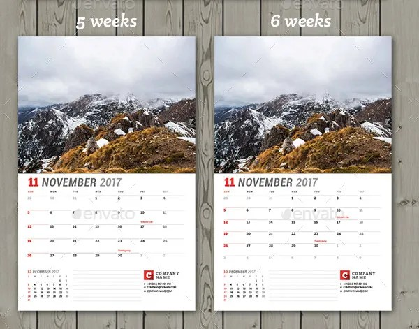 wall calendar template - Onwebioinnovate
