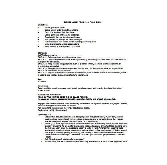 Kindergarten Lesson Plan Template \u2013 11+ Free Sample, Example, Format
