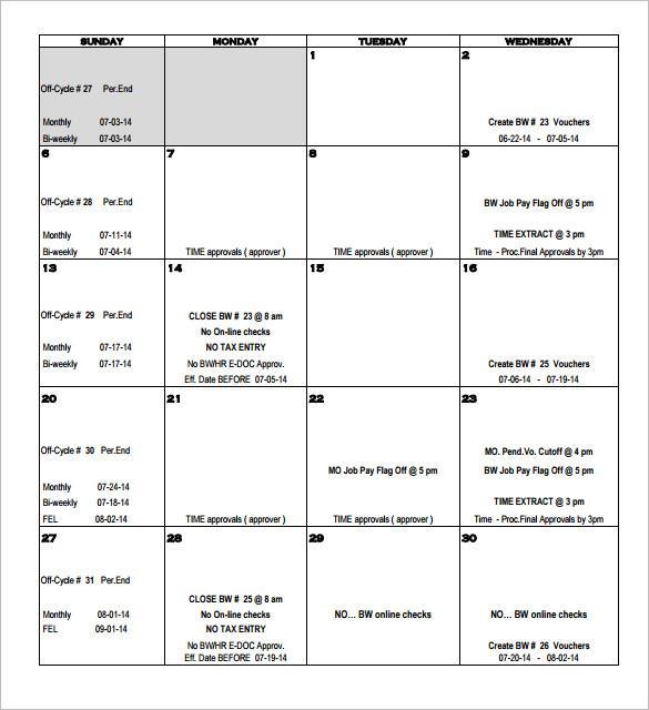 Payroll Calendar Template Payoff Calendar Payoff Calendar Ninja - template for payroll