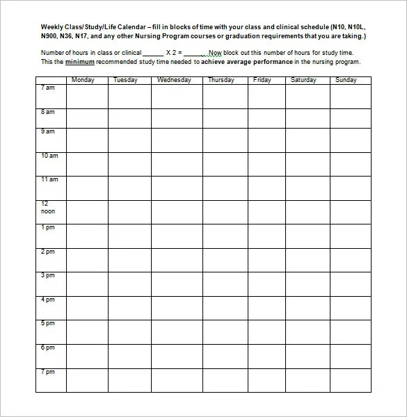 templates weekly school schedule bire1andwap