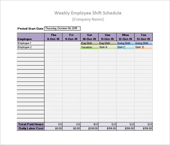 daily work schedule templates - Goalgoodwinmetals - work templates
