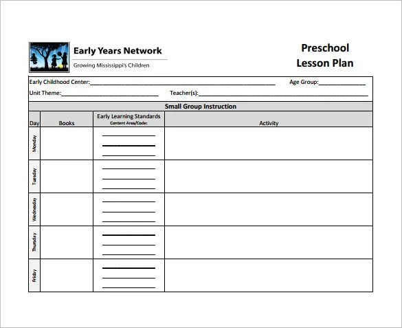 Teacher Lesson Plan Template - 8+ Free Sample, Example, Format