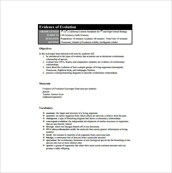 High School Lesson Plan Template - 9+ Free PDF, Word, Format