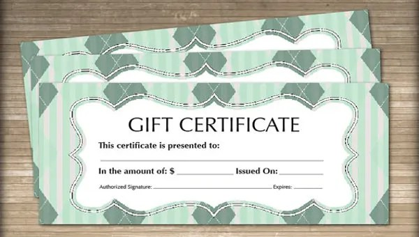 12+ Blank Gift Certificate Templates \u2013 Free Sample, Example Format