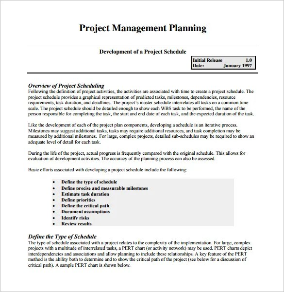 Project Management Schedule Template \u2013 7+ Free Word, Excel, PDF - project schedule management plan template