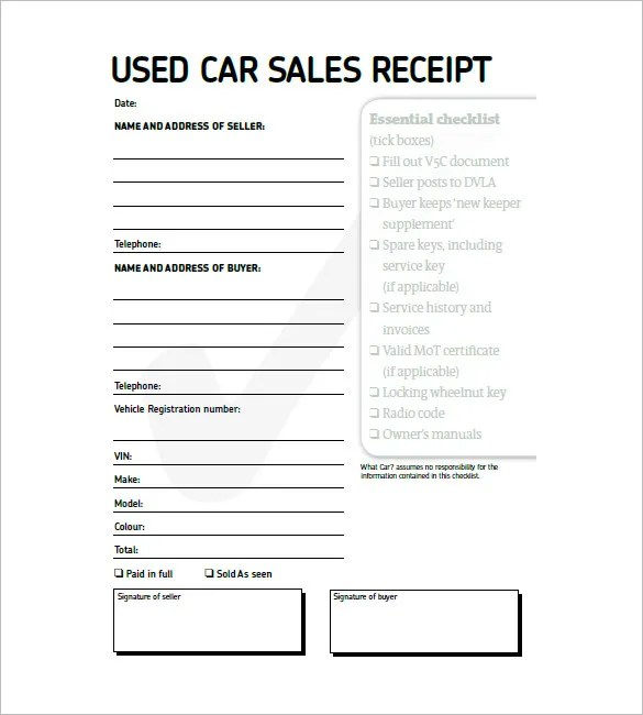 Car Invoice Template \u2013 8+ Free Sample, Example, Format Download - invoice layout example