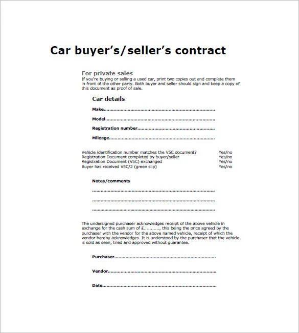 Car Invoice Template u2013 8+ Free Sample, Example, Format Download - car sale sign template