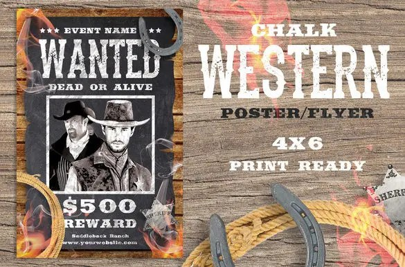 17+ Western Wanted Poster Templates - Free Printable, Sample