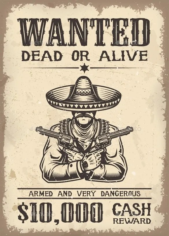 Wanted Poster Template To Download – Examples of Wanted Posters
