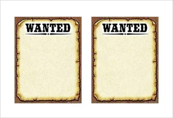 19+ Western Wanted Poster Templates \u2013 Free Printable, Sample - free wanted poster template download
