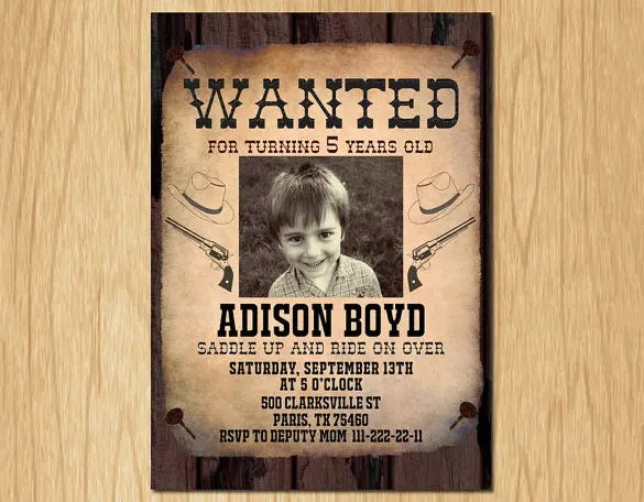 Wanted Poster Template Free  Premium Templates
