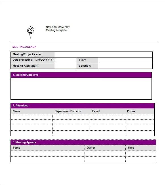 19+ Simple Agenda Templates - PDF, DOC Free  Premium Templates