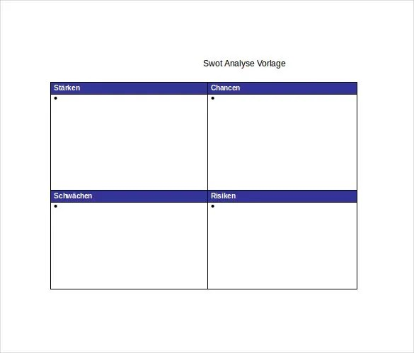SWOT Analysis Template - 52+ Free Word, Excel, PDF Free  Premium