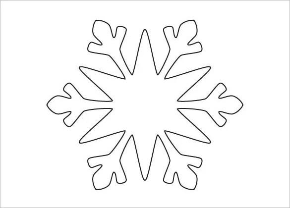 14 Free Snowflake Template Free Printable Word Pdf