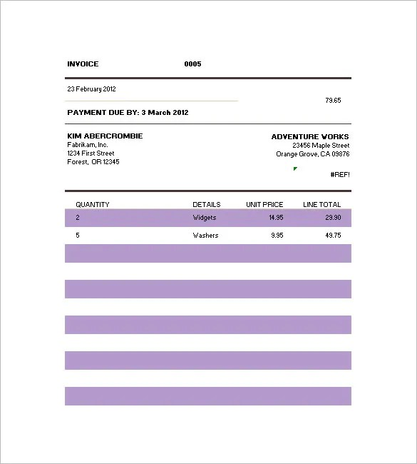 Billing Invoice Template \u2013 8+ Free Sample, Example, Format Download