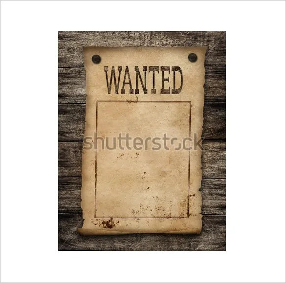 12+ Blank Wanted Posters - Free Printable, Word, PDF, PSD, Vector