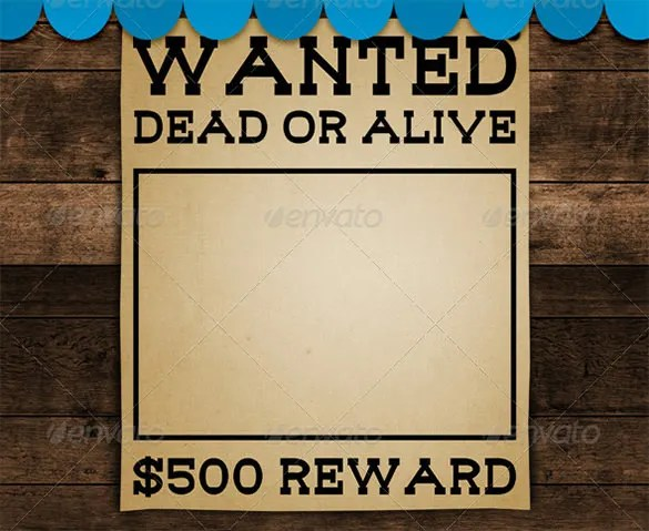 11+ Blank Wanted Posters - Free Printable, Word, PDF, PSD, Vector