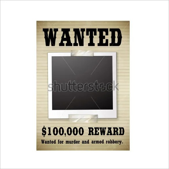 14+ Blank Wanted Poster Templates - Free Printable, Sample, Example - example of a wanted poster