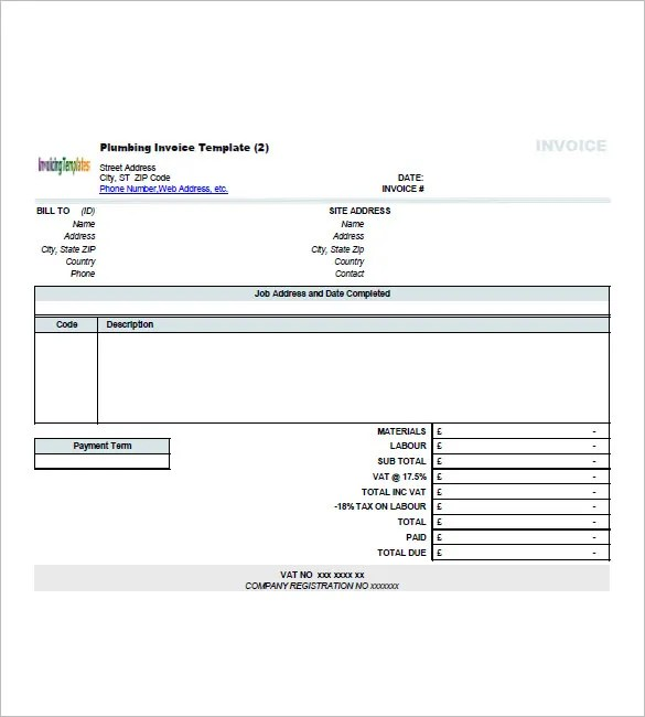 Contractor Invoice Template \u2013 8+ Free Sample, Example, Format - invoice layout example