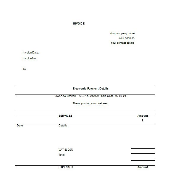 Contractor Invoice Template \u2013 8+ Free Sample, Example, Format