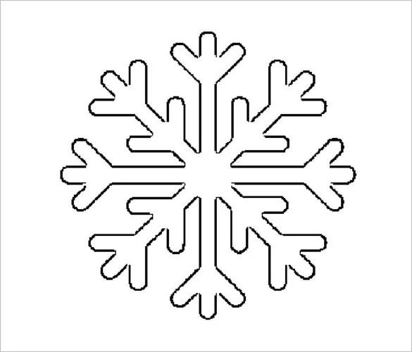 blank snowflake template - Selol-ink - snowflake template