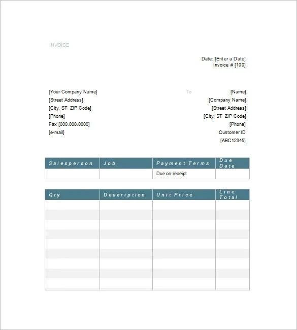 Service Invoice Template u2013 10+ Free Sample, Example, Format - sample service invoice