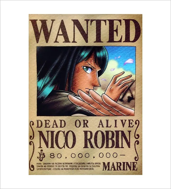 Luffy 3d Wallpapers 11 One Piece Wanted Poster Templates Free Printable