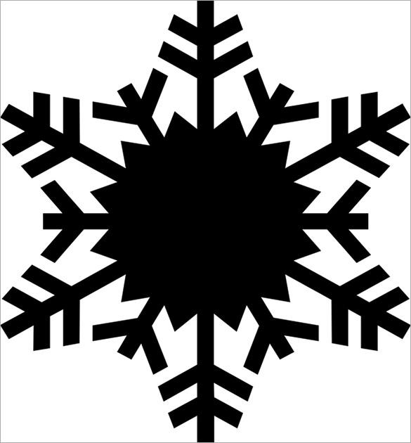 17+ Snowflake Stencil Template \u2013 Free Printable Word, PDF, JPEG