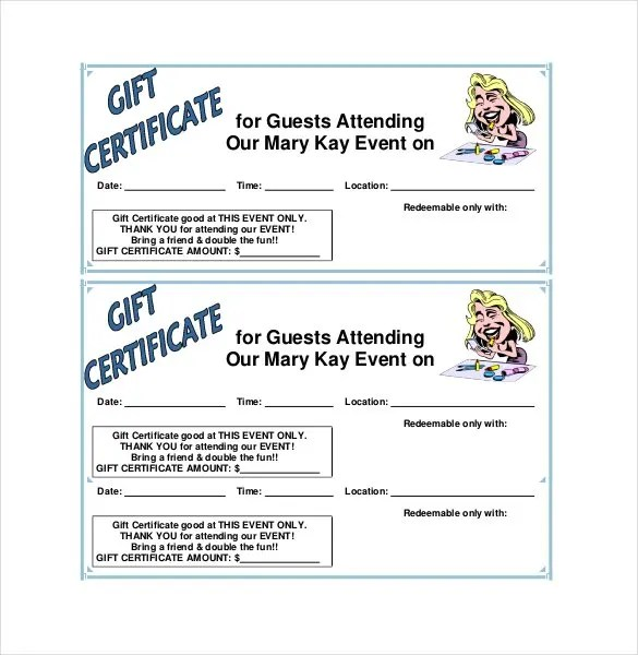 Blank Gift Certificate Template - 31+ Examples in PDF, Word Free - printable gift certificate template