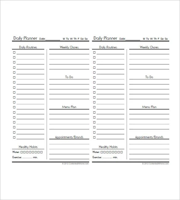 10+ Daily Agenda Templates \u2013 Free Sample, Example, Format Download