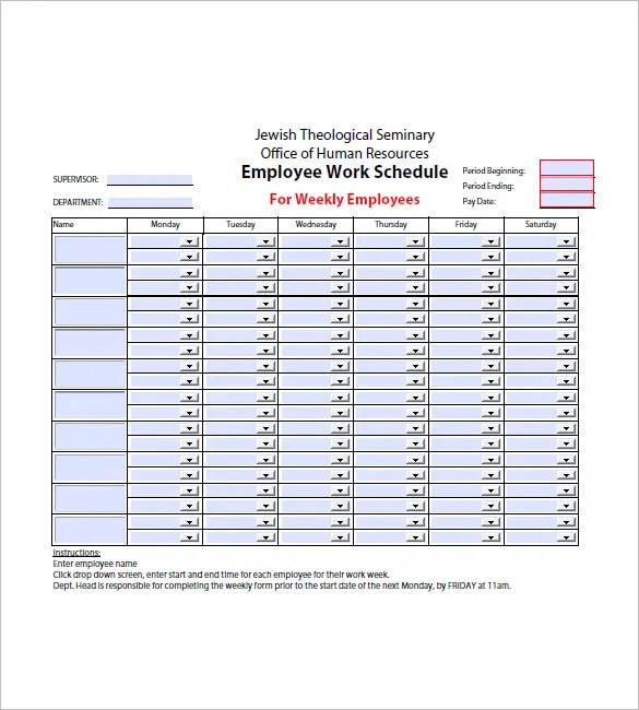 12+ Weekly Agenda Templates - Free Sample, Example, Format Download