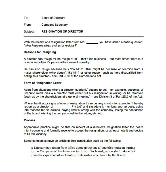 23+ Professional Resignation Letter Templates - PDF, DOC Free