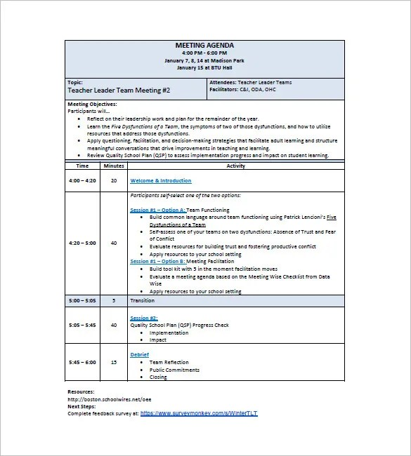 Sample School Agenda  EnvResumeCloudInterhostsolutionsBe