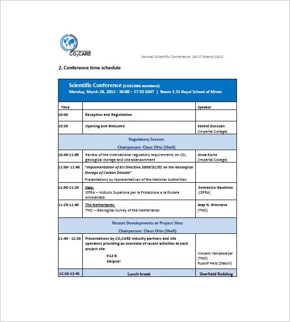 Conference Agenda Template School Conference Agenda Template - school agenda template