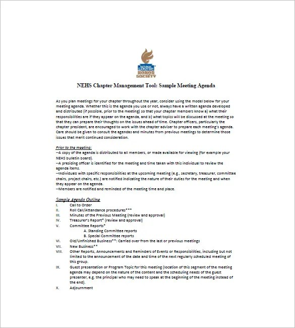 Sample business meeting colbro 8 business agenda templates free sample example format download ideas collection sample business meeting altavistaventures Image collections