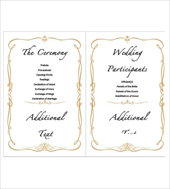 9+ Wedding Agenda Templates - Free Sample, Example, Format Download