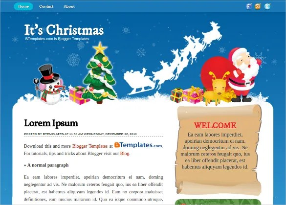 21+ Christmas Blogger Themes  Templates Free  Premium Templates - template for christmas