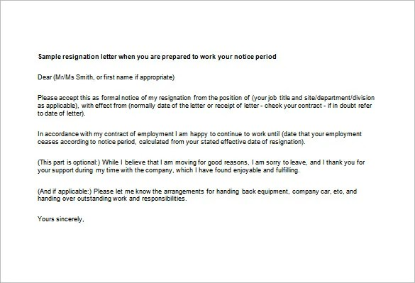Professional Resignation Letter Templates u2013 14+ Free Word, Excel - microsoft office resignation letter template