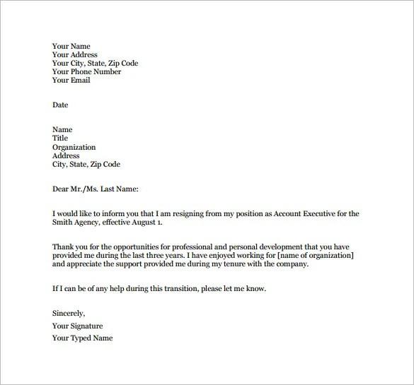 job notice template - Delliberiberi - notice of resignation template