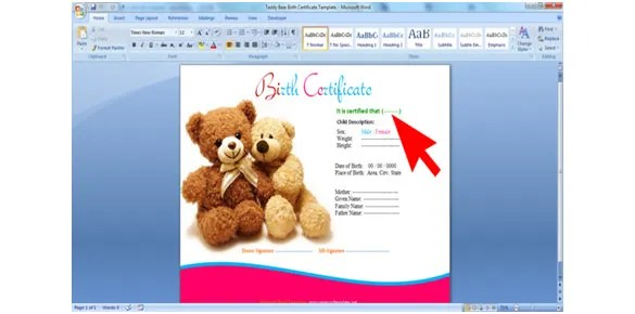 How to Make a Certificate in Microsoft Word Tutorial - oukasinfo - how to make certificates in word